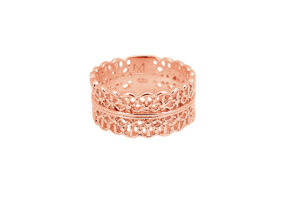 Bague Lace Crown Or Rose