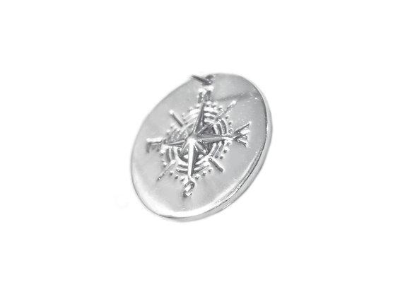 Mini Médaille Rose Des Vents Argent