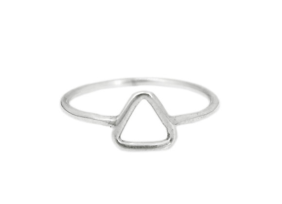 Bague Triangle de phalange ou normal en argent massif