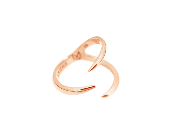 Bague  Three Claw Or Rose