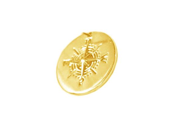 médaille boussole or
