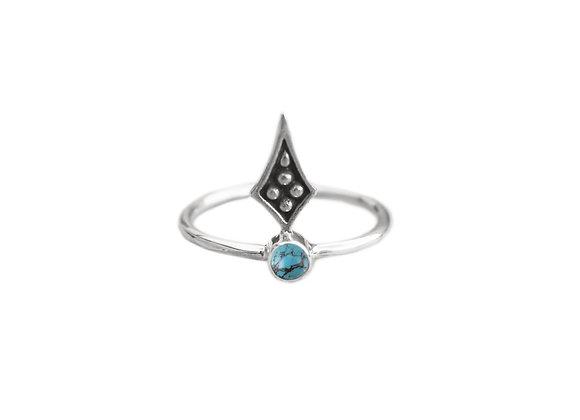 Bague d'ornement Oni Argent /Turquoise
