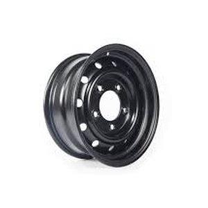 5 x (16'' x 6.5) Heavy Duty Wolf Steel Wheels (Black)