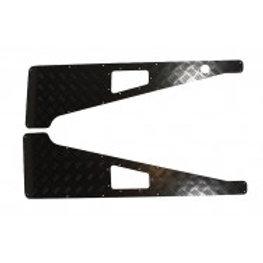 Wing Protector 3mm Aluminium in Black
