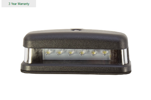 LED Number Plate Lamp Clear