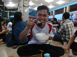Joja enjoying his dinner