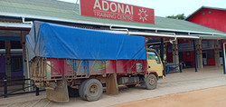 Truck of building materials arriving