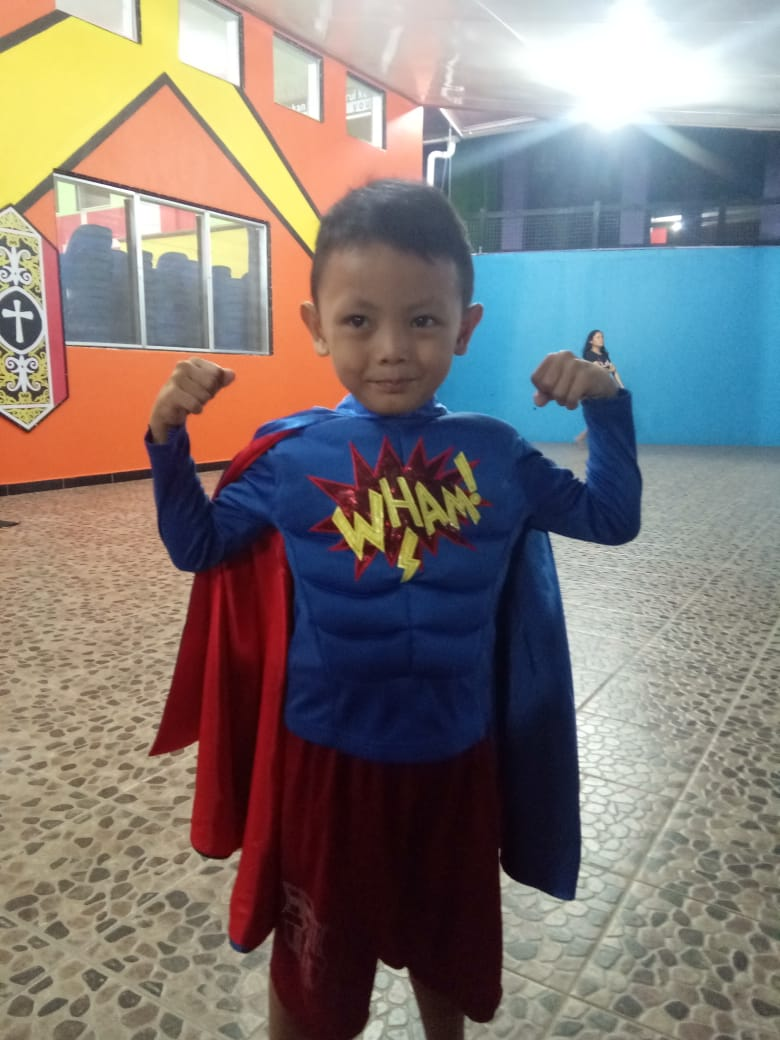 Our little superman!