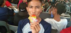 Our Musa enjoying his ice cream!