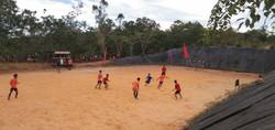 Playing football!