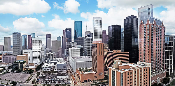 East view of Downtown Houston,TX