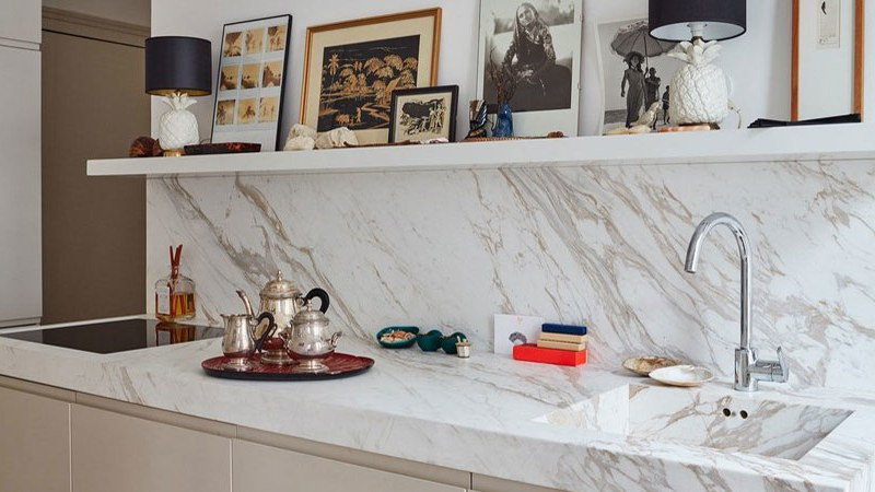 kitchen cleaning counter tops marble