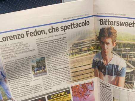 Lorenzo Fedon Featured at Ticino Online!