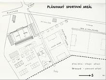 Někdejší plán sportovního areálu Opočno