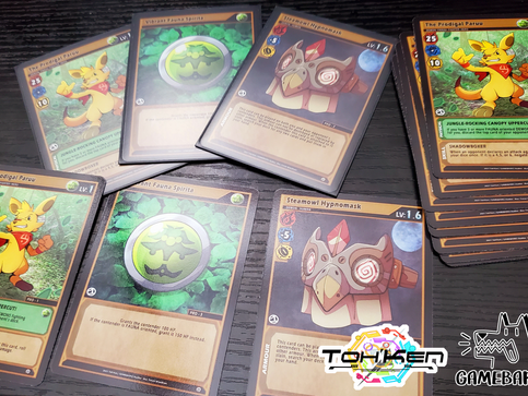The Toh'Ken physical TCG prototype cards are here.