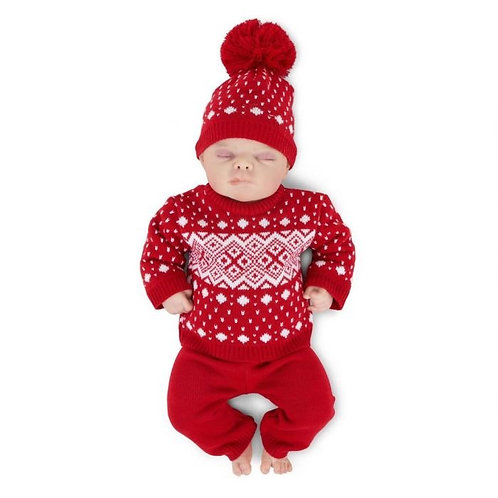 Red Knitted 3 Piece