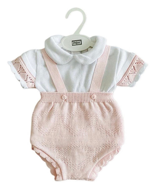 White & Pink Knitted Outfit