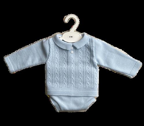 Blue Knitted Golf Jumper & Jam Pants