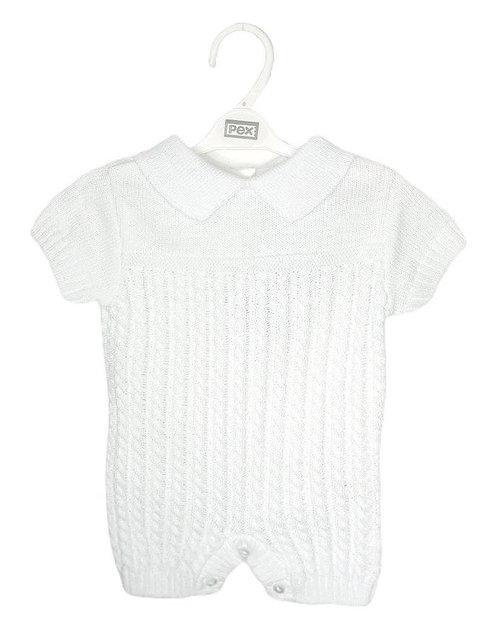 White Knitted Romper