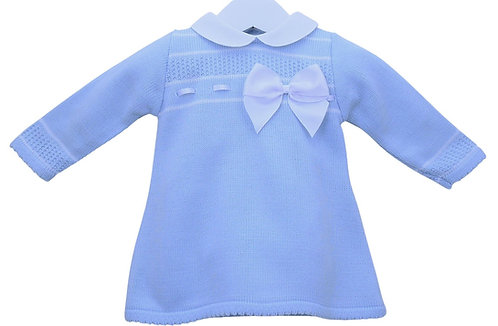 Baby Blue Knitted Bow Dress