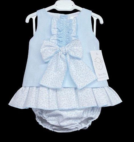 Blue A Line Dress Set