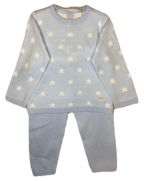 Baby Blue Star Two Piece Suit