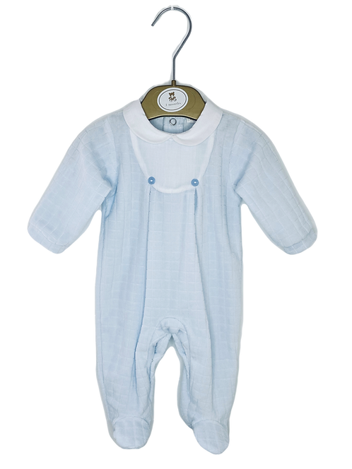 Baby Blue Quilted Babygrow