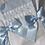 Thumbnail: White & Blue Two Piece Romper Set