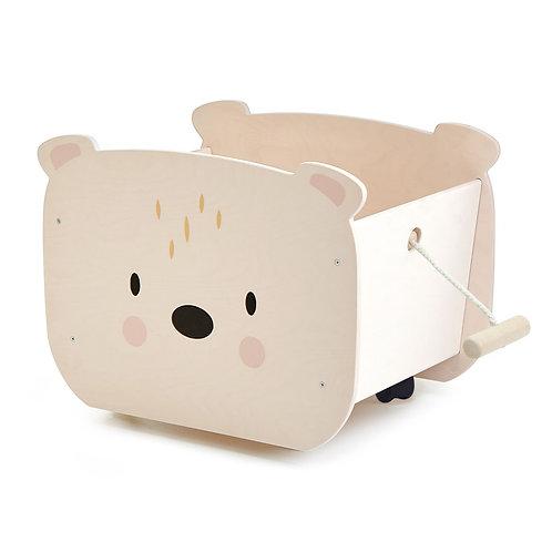 Pull Along Bear Cart