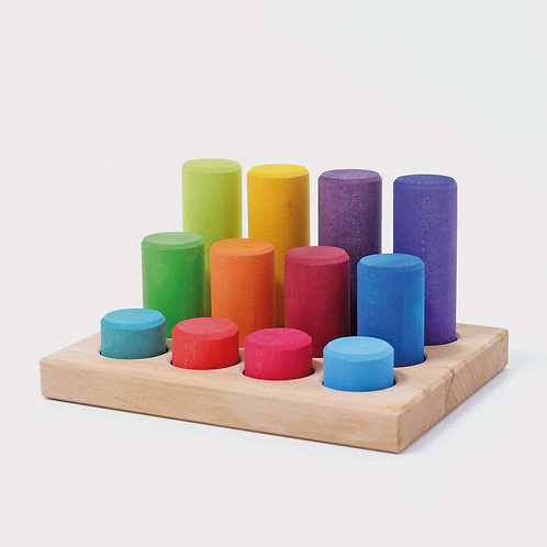 Grimm's | Stacking Game Small Rainbow Rollers