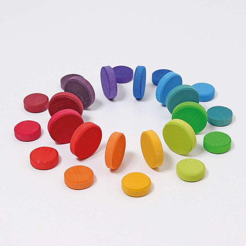 Grimm's | Wooden Rainbow Coins