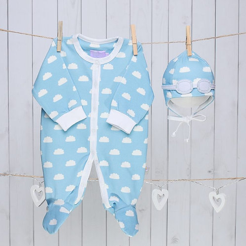 Blue Clouds Baby Gift Set