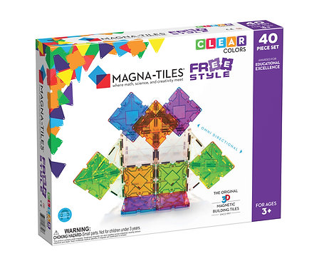 Magna-Tiles | Free Style 40-Piece Set