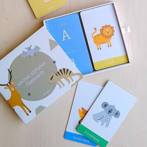 Bilingual Animal Alphabet Flashcards by BAMBOO
