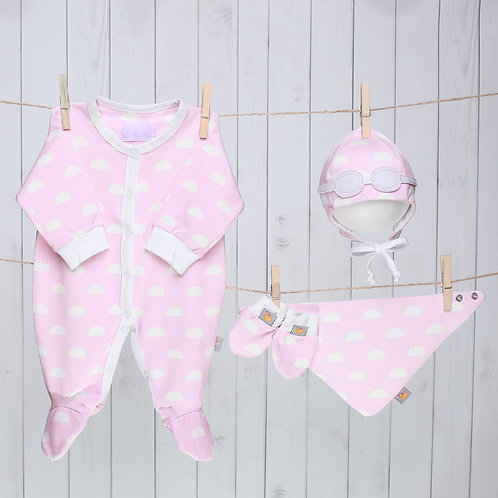 Pink Clouds Baby Gift Set