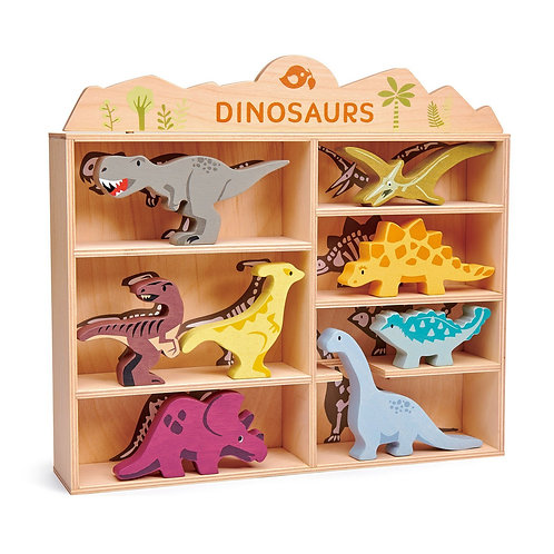 8 Dinosaurs & Shelf