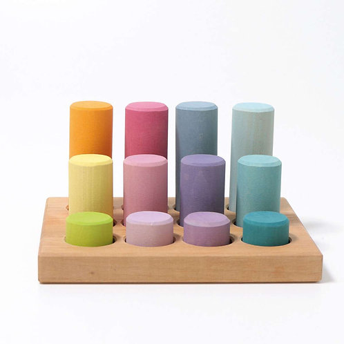 Grimm's | Stacking Game Small Pastel Rollers