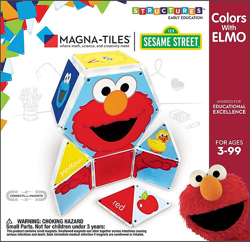 Magna-Tiles   Colors with Elmo