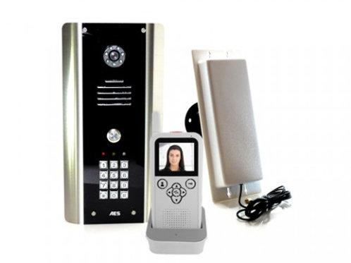 AES 605-ABK  1 Button Wireless Video Int w/keypad