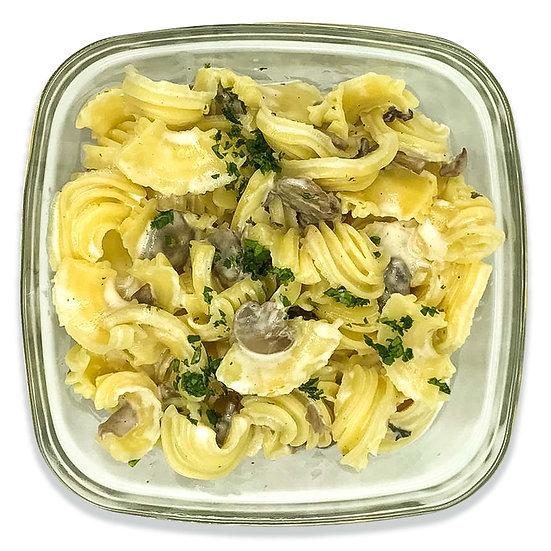 Pasta crème de parmesan et champignons persillés (dont 2,5 € de consigne)