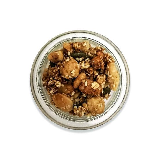Mousse crème de marron et granola de fruits secs(dont 1 € de consigne)
