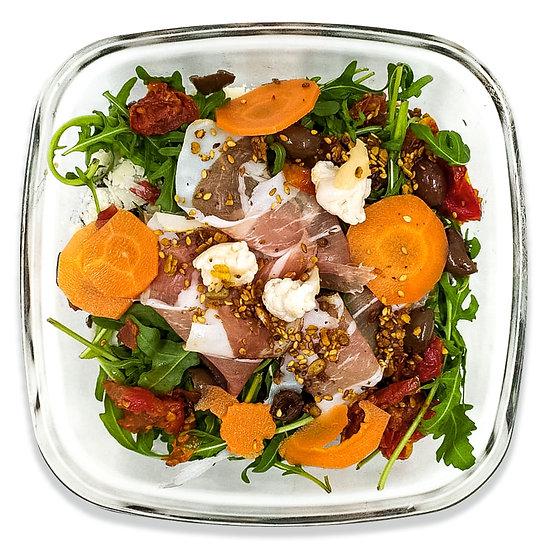 Grande salade lentilles, speck, parmesan, granola salé (dont 2,5€ de consigne)