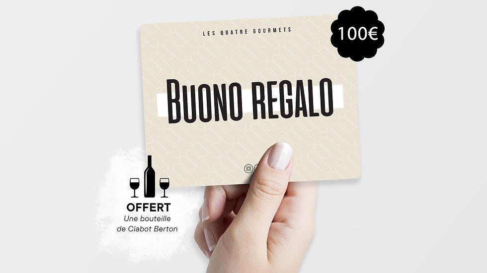 Bon cadeau + Bouteille de Ciabot Berton offerte