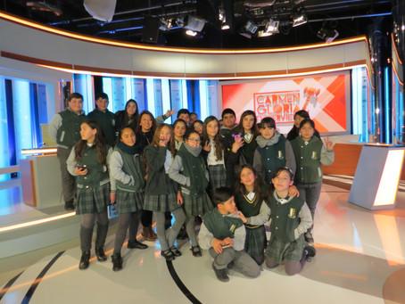 Taller periodismo visita TVN