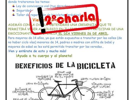 Invitación charla para Ciclista
