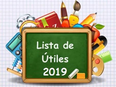 Listas de Útiles 2019
