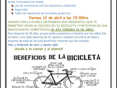 Invitación Charla para ciclistas