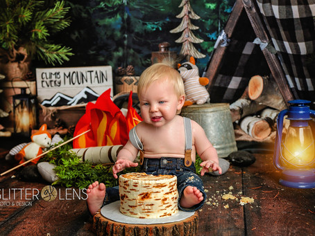 Camping Cake Smash   Mooresville, NC