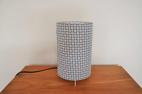 Lampe tube engrenage bleu et jaune