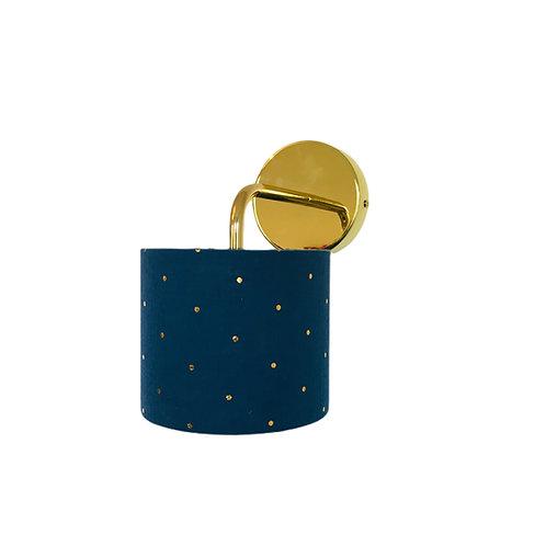 Applique métal tissu double gaze bleu